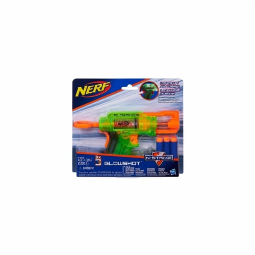 Hasbro HSBB4615 Nerf-N-Strike Glowshot, Pack of 6 Perspective: front