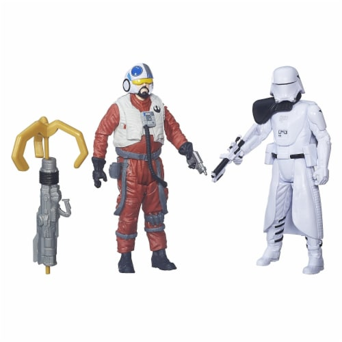 Star Wars: The Force Awakens 3.75 Inch 2 Pack Snap Wexley and First Order Snowtrooper Officer Perspective: front