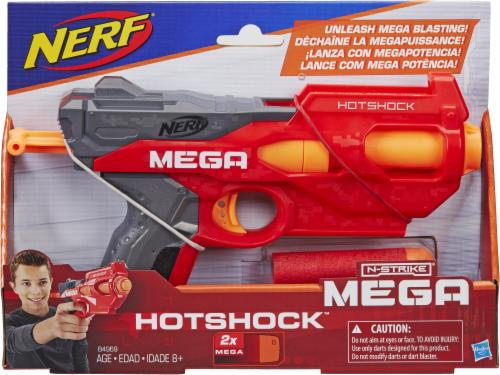 Nerf N-Strike Mega HotShock Blaster - Red/Gray Perspective: front