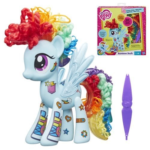 My Little Pony My Little Pony Rainbow Dash Design A Pony Playset Doll Perspective: front