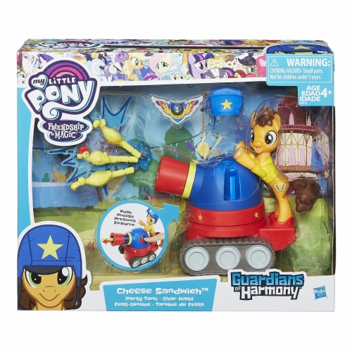 My Little Pony Guardians of Harmony Cheese Sandwich Pony with Party Tank Perspective: front