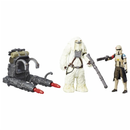 Star Wars Rogue One Scarif Stormtrooper & Moroff Deluxe Pack Perspective: front
