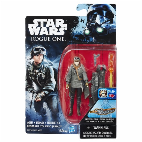 Hasbro Disney Star Wars Rogue One Sergeant Jyn Erso Figure Perspective: front