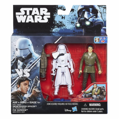 Star Wars The Force Awakens Poe Dameron & First Order Snowtrooper Deluxe Pack Perspective: front