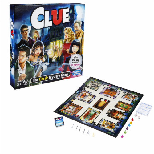 Hasbro Clue Board Game Perspective: front
