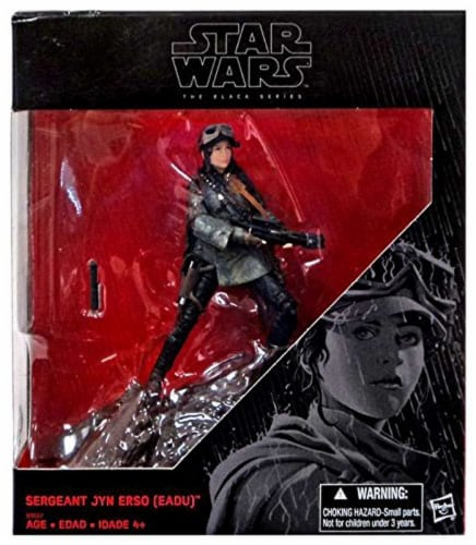Disney Star Wars The Black Series Sergeant Jyn Erso EADU Action Figure Rogue One Perspective: front