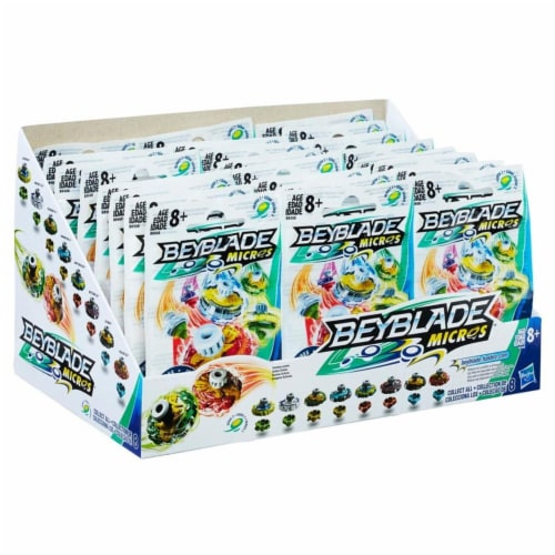 Hasbro HSBB9508 Beyblade Mini Tops Blind Bag, Assorted Colors - Set of 24 Perspective: front