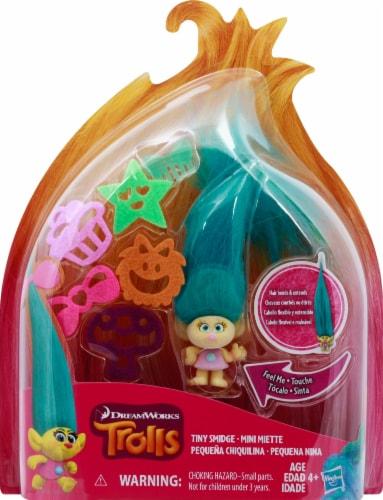 Hasbro DreamWorks Trolls Small Hair Raising Smidge Doll Perspective: front