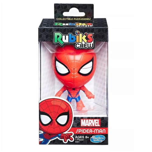 Rubik's Crew 2x2 Puzzlehead Game: Marvel Spider-Man Edition Perspective: front