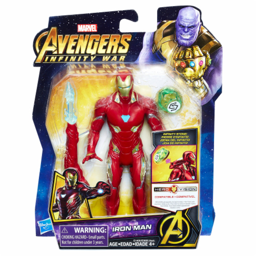 Hasbro Marvel Avengers Infinity War Iron Man Action Figure with Infinity Stone Perspective: front