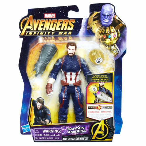 Hasbro Marvel Avengers: Infinity War Captain America with Infinity Stone Perspective: front