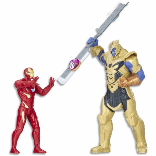 Avengers Marvel Infinity War Iron Man vs. Thanos Battle Set Perspective: front