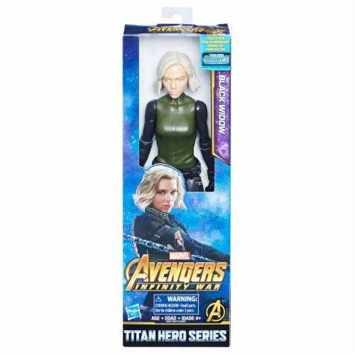 Hasbro Marvel Infinity War Titan Hero Series Black Widow with Titan Hero Power FX Port Perspective: front