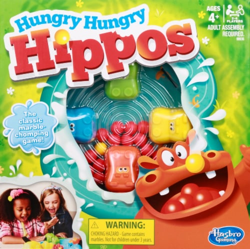 Hasbro Hungry Hungry Hippos Game Perspective: front
