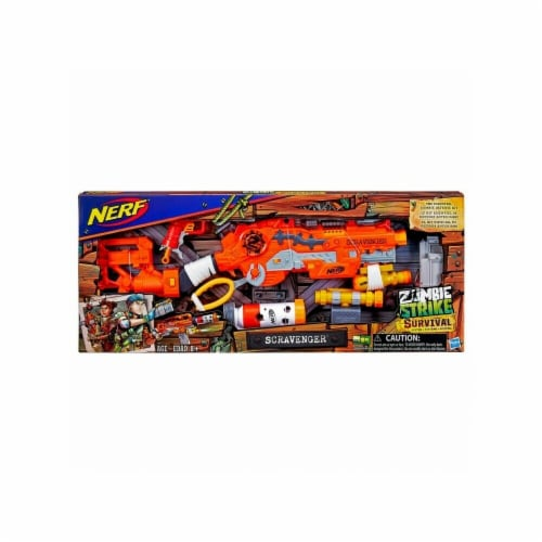 Hasbro HSBE1754 NERF Zombie Scravenger, 4 Count Perspective: front