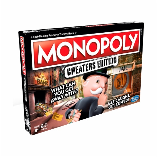 Hasbro Monopoly Cheaters Edition Board Game Perspective: front