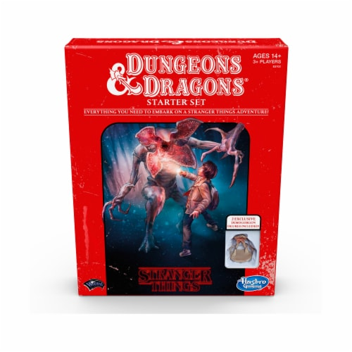 Hasbro Stranger Things Dungeons and Dragons Starter Set Board Game Perspective: front