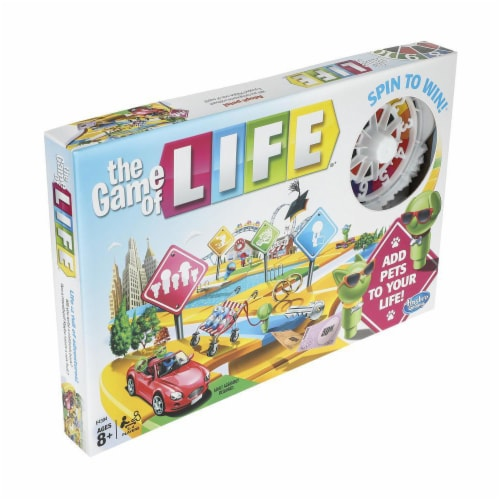 Hasbro The Game of Life Board Game Perspective: front