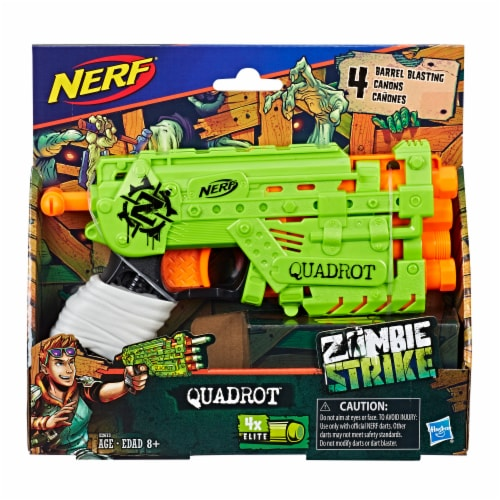 Nerf Zombie Strike Quadrot Blaster Perspective: front