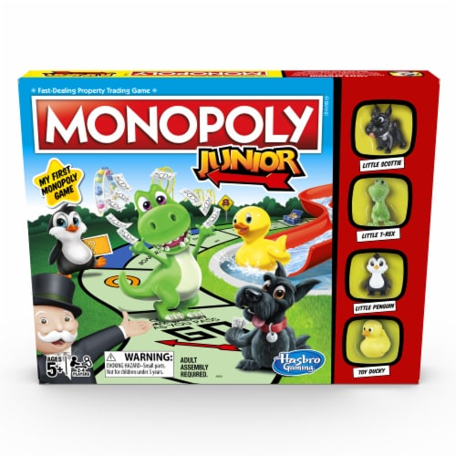 Hasbro Gaming Monopoly Junior Game Perspective: front