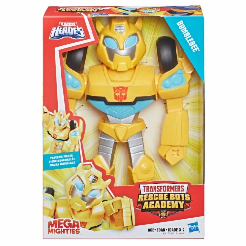 Hasbro Playskool Transformers Heroes Mega Mighties Bumblebee Robot Action Figure Perspective: front