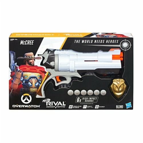 Hasbro HSBE3121 Nerf Rival Overwatch Mccree Toy Perspective: front