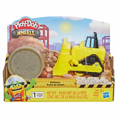 Play-Doh Wheels Mini Bulldozer with Stone Buildin' Compound Perspective: front