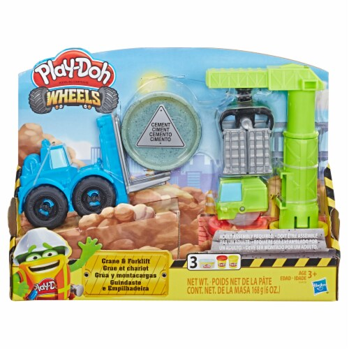 Play-Doh Wheels Crane & Forklift Set Perspective: front
