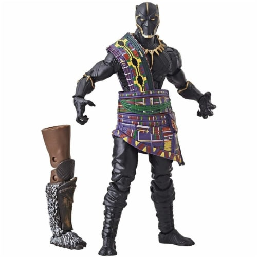 Hasbro 30378170 6 in. Marvel Legends Series Black Panther TChaka Figure Perspective: front