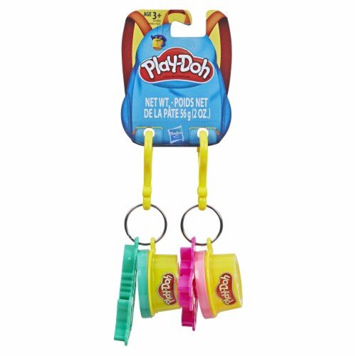 Play-Doh Mermaid and Unicorn Cutters and Modeling Compound Key Chains Perspective: front