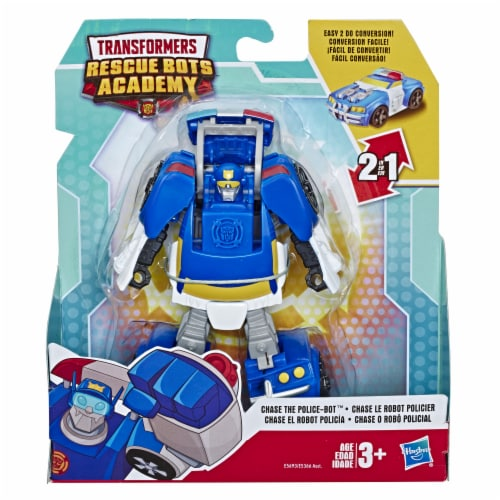 Hasbro Transformers Rescue Bots Academy Chase The Police-Bot Action Figure Perspective: front