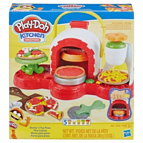 Hasbro HSBE4576 Play-Don Stamp N Top Pizza Toy - Pack of 2 Perspective: front