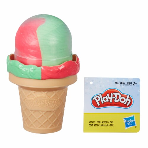 Play-Doh Ice Cream Cone and Ice Pop Shaped Compound Container - Assorted Perspective: front