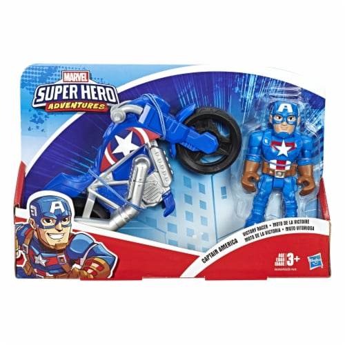 Hasbro Marvel Super Hero Adventures Action Figure and Motorcycle - Assorted Perspective: front
