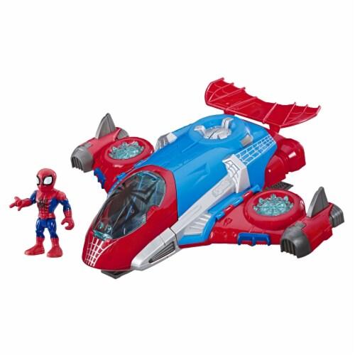 Hasbro Playskool Marvel Super Hero Adventures Spider-Man Jetquarters Toy Perspective: front