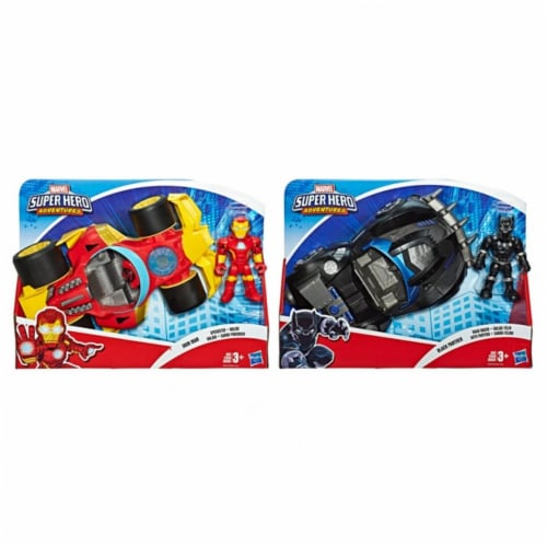 Hasbro HSBE6223 Super Hero Adventures Deluxe Vehicle & Figure Toy, Assorted Color - Pack of 2 Perspective: front