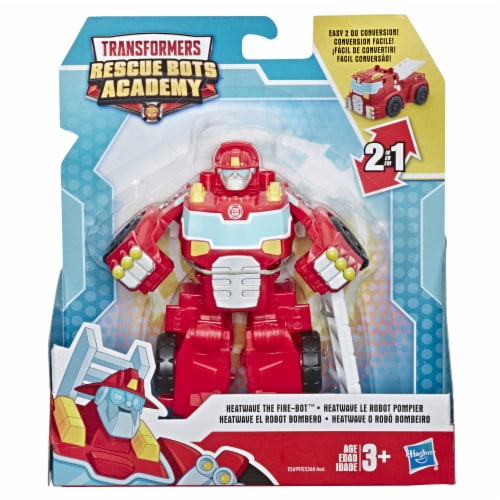 Hasbro Transformers Rescue Bots Academy Heatwave The Fire-Bot Firetruck Acton Figure Perspective: front