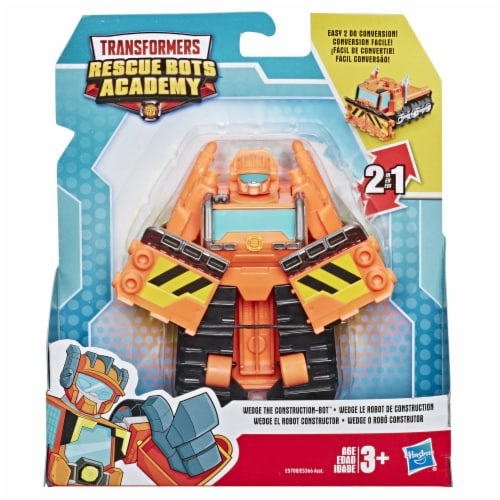 Hasbro Transformers Rescue Bots Academy Wedge Te Construction-Bot Action Figure Perspective: front