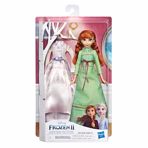Hasbro Disney Frozen 2 Anna Fashion Doll Perspective: front