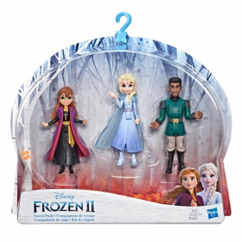 Frozen 2 Anna Elsa and Mattias Travel Pack Dolls Perspective: front