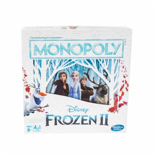 Hasbro Frozen 2 Monopoly Board Game Perspective: front