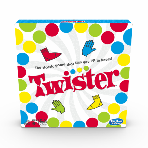 Hasbro Gaming Twister Kids Game Perspective: front