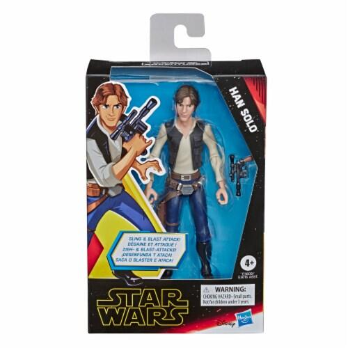 Hasbro Star Wars Galaxy of Adventures Han Solo Action Figure Perspective: front