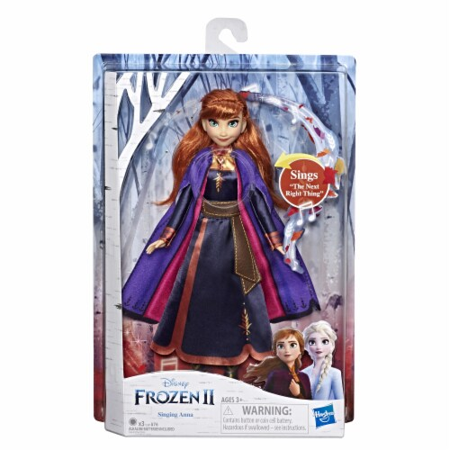 Hasbro Frozen 2 Singing Anna Doll Perspective: front