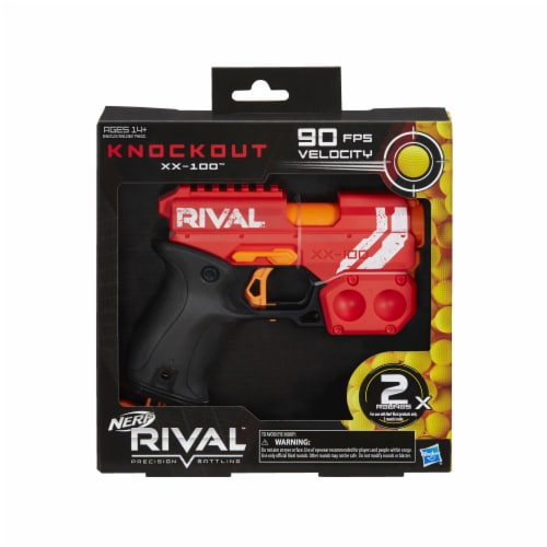 Nerf Rival Knockout XX-100 Blaster - Red Perspective: front