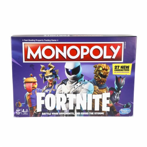 Hasbro Gaming Fortnite Monopoly Board Game Perspective: front