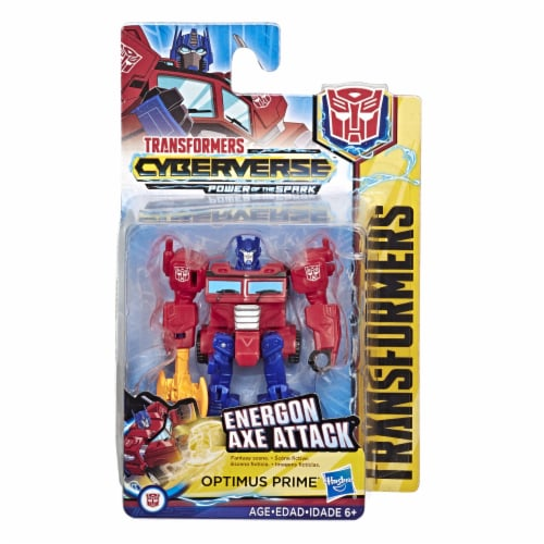 Transformers Cyberverse Scout Class Optimus Prime Action Figure Perspective: front