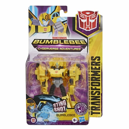 Transformers Bumblebee Cyberverse Adventures Sting Shot Action Figure Toy Perspective: front