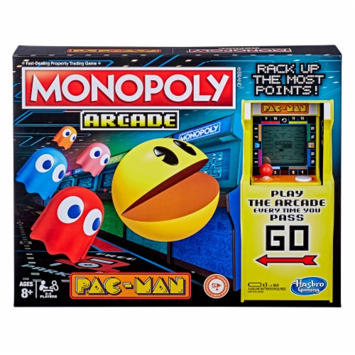 Hasbro Gaming Monopoly Arcade Pac-Man Board Game Perspective: front