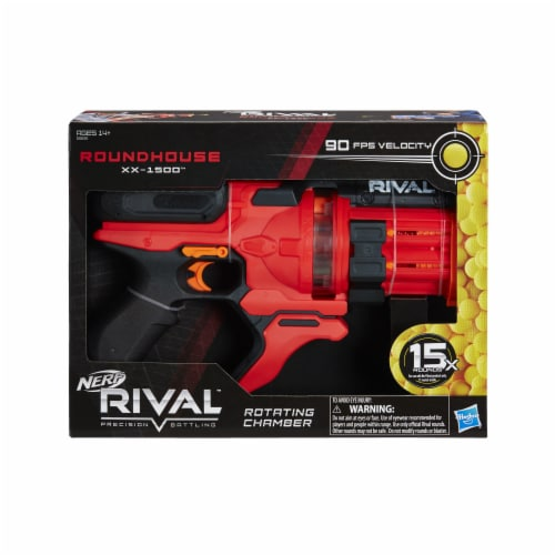 Nerf Rival Roundhouse XX-1500 Rotating Chamber Blaster - Red Perspective: front